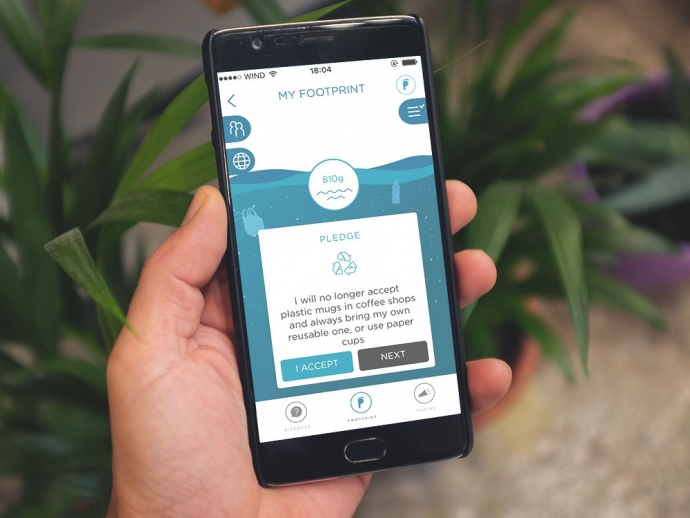 An App to Track and Reduce your Plastic Footprint.