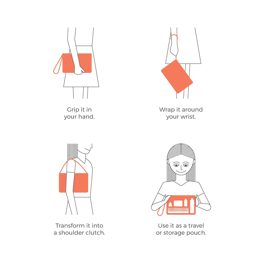 The Dhaar carry-all clutch is woven with discarded plastic bags.