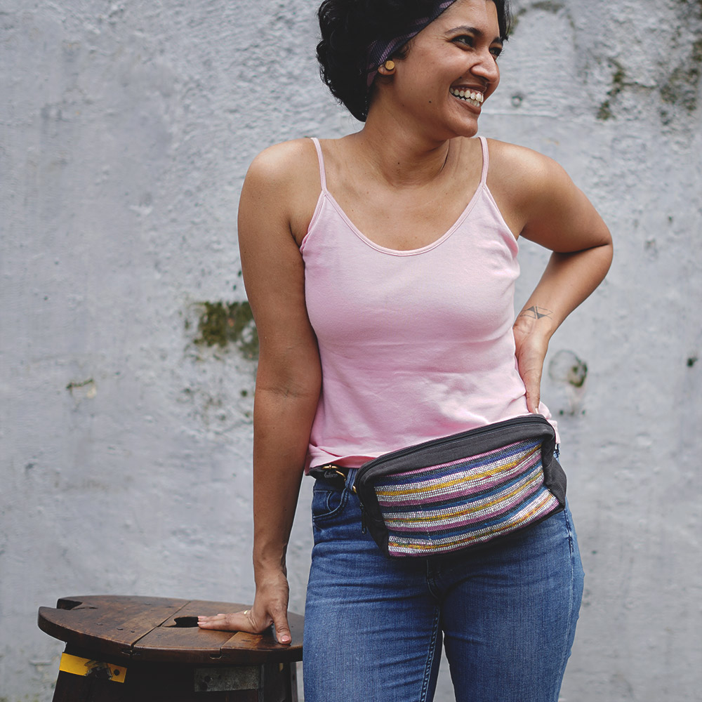 This Belt Bag is as versatile as it gets - Wear it around the waist, sling it across the body or remove the belt & use it as a travel pouch.
